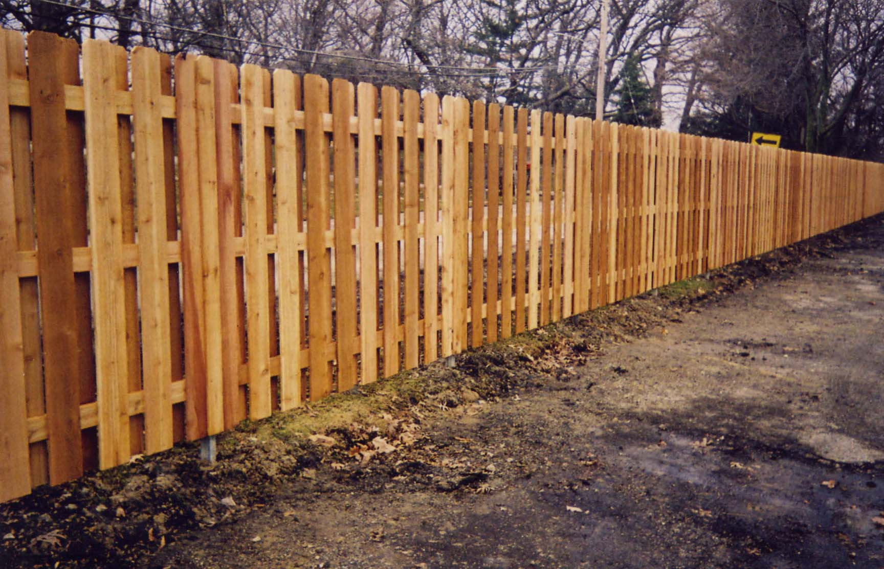 Masterbilt fence and supplies inc phone 847 336 8335 fax 6 cedar board on board dog ear baanklon Gallery